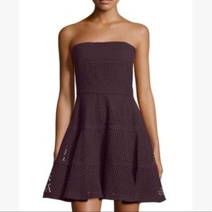 NEW See by Chloe Strapless Eyelet Fit Flare Dress